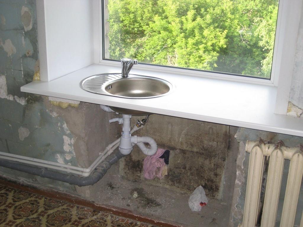 Делаем оригинальный подоконник на кухне