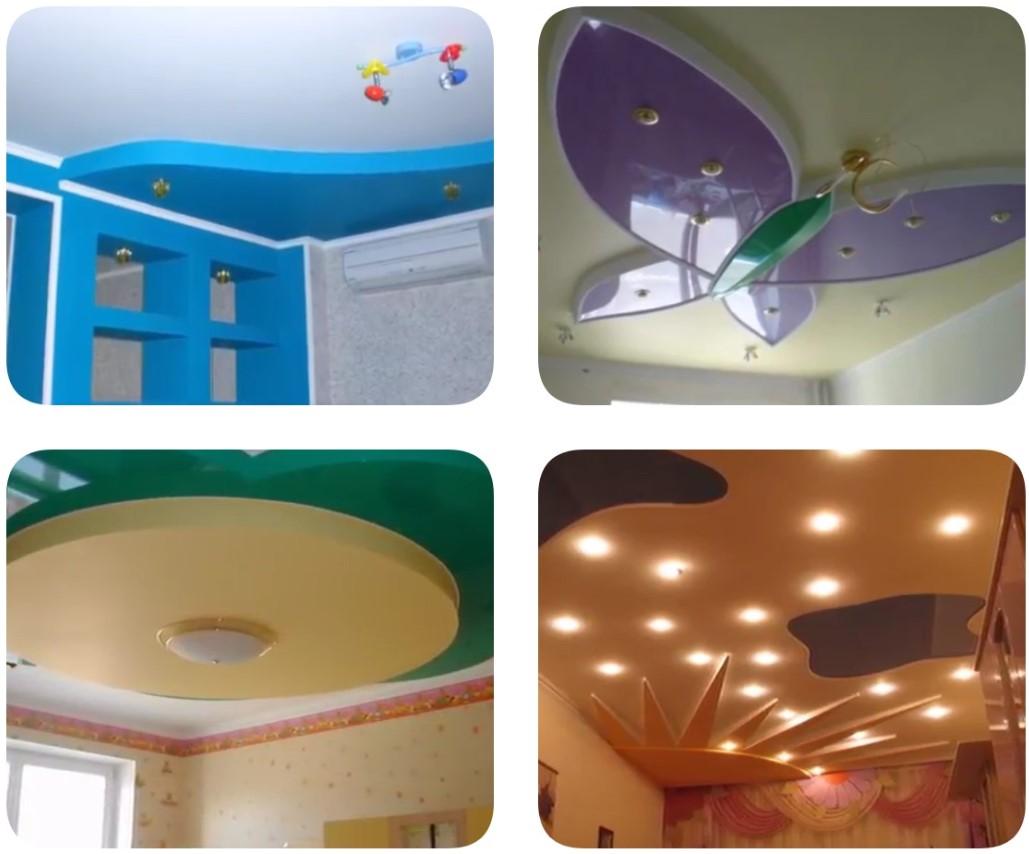 Дизайн потолка в детской комнате: Самые яркие идеи