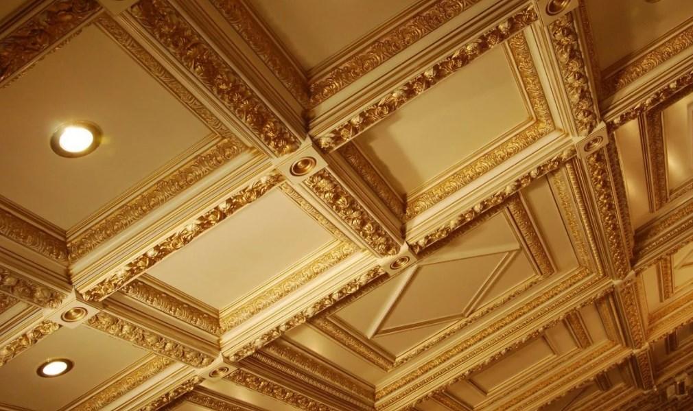 Модные решения: Кессонные потолки в интерьере
