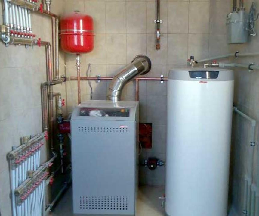 Самостоятельная установка газового котла