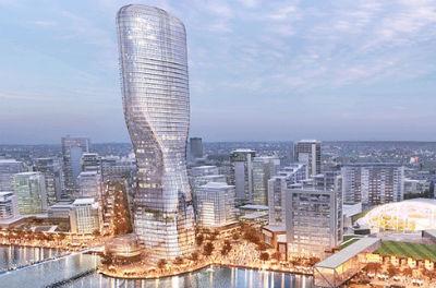 Будущий деловой центр в Белграде