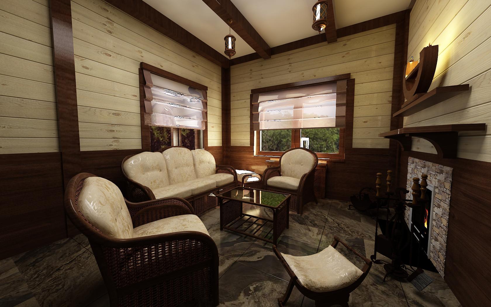 Отделка комнаты отдыха в бане своими руками